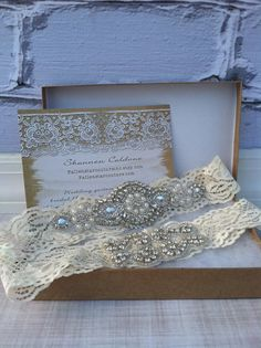 Rhinestone wedding garter / crystal by FallenStarCoutureInc, $39.99