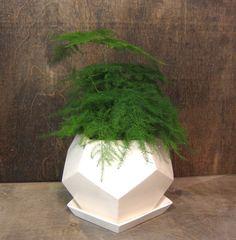 Geo planter - Large - White.