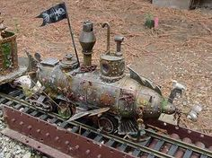 "Steampunk model train. Blix says: ""Of course all model trains are a bit steampunk."""