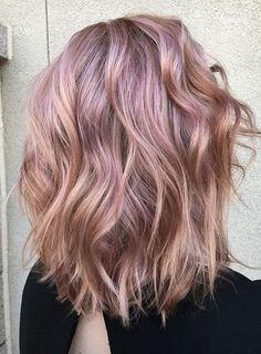 Metallic rose gold hair colors for winter season 2016 - 2017