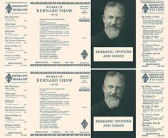 Dramatic Opinions and Essays Volumes 1 & 2. George Bernard Shaw.
