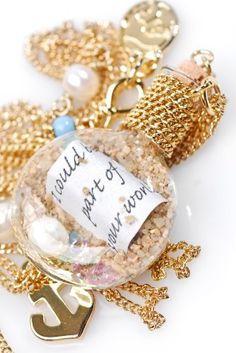 Disney Couture Little Mermaid Ariel Message in a Bottle Necklace