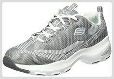 Skechers Damen D'Lite Ultra Ausbilder, Grau (Grey/White), 39 EU - Sneakers für frauen (*Partner-Link)