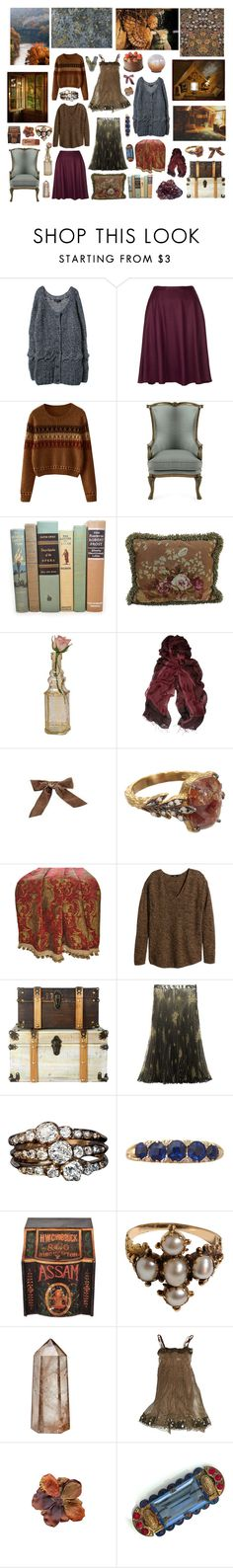 """""""Untitled #2021"""" by zoella ❤ liked on Polyvore featuring Topshop, Massoud, Cultural Intrigue, Lot78, Bocage, Cathy Waterman, Sherry Kline, H&M, RabLabs and Anna Molinari"""