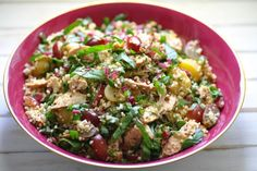 Homemade Cajun Chicken Salad with Quinoa, Bulgar Wheat and Red Chard Cajun Chicken Salad, Chicken Salad Recipes, Pasta Recipes, Vegetable Salad, Vegetable Dishes, Mint Recipes, Healthy Recipes, Healthy Foods