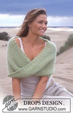 Sweet Siren Mobius Shawl By DROPS Design - Free Knitted Pattern - (garnstudio)