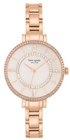 Kate Spade New York 'gramercy' Crystal Bezel Bracelet Watch, 34mm