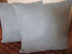 Blue Gray Grey Suede Pillow Covers Designer by vertzvkv on Etsy, $49.00