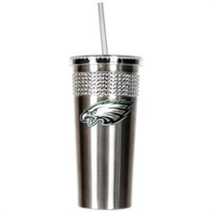 Travel Philadelphia Eagles Cup Tumbler with Straw