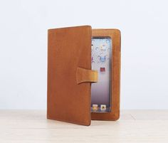 I've just found Leather iPad Cover With Stand. We have designed this iPad cover with an aim to combine style with function. The distressed, tough, leather holds iPad securely whilst adding vintage style.. £45.00