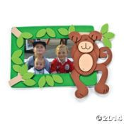 Monkey Picture Frame Magnet Craft Kit