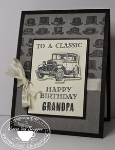 .....Yvonne is Stampin´ and Scrapping..... Stampin' Up! card Guy Greetings