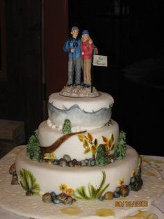 Mountain Wedding Cakes Ideas | Mountain Wedding Cake