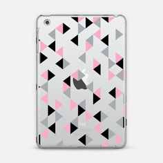 #triangle #triangles #pink #black #projectm #casetify #geometric #transparent #IPad