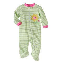 d5b180134a Garanimals - Newborn Baby Girls  Cotton Sleep  n Play - Walmart.com