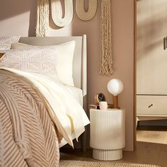 Fluted Side Table Small Furniture, Living Furniture, Furniture Decor, Grey Side Table, Pedestal Side Table, Side Tables Bedroom, Welcome To My House, Tap Room, Room Planning
