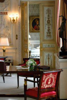 Decor Inspiration Paris Impérial Suite, the Ritz Hotel, 15 Place Vendôme, Paris Paris Hotels, French Interior, French Decor, Classic Interior, Beautiful Hotels, Beautiful Interiors, Interior Exterior, Interior Design, The Ritz Paris