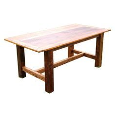 Distinctively Aged Barn Wood This one-of-a-kind American-made dining table is handcrafted from timeworn wood salvaged from old barns throughout rural Georgia. This dining table gives new life to the r