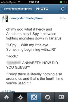 Percy, you need to think of something a little better than a rock.