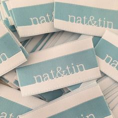 Love this color way for Nat & Tin!  Beautiful new woven label for a great company!