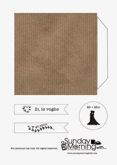 Coni porta riso stampabili per il matrimonio. Wedding confetti cones.