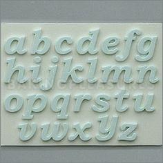 Lower Case Alphabet Sugarcraft Silicone Mould