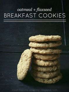 Mean Mommy Academy: oatmeal + milled flaxseed breakfast cookies with cinnamon