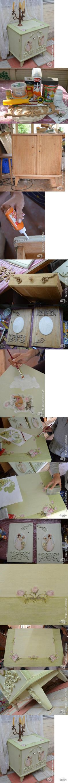 Декупаж - Сайт любителей декупажа - DCPG.RU | Переделка тумбочки своими руками Click on photo to see more! Нажмите на фото чтобы увидеть больше! decoupage art craft handmade home decor DIY do it yourself tutorial Materials and techniques: acrylic paint napkin prints varnish etc.