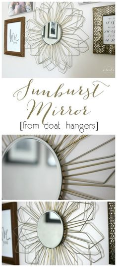I would LOVE to make this beautiful Anthropologie inspired DIY mirror for any room in my home! The Ultimate Pinterest Party, Week 88
