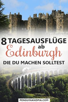 8 Tagesausflüge ab Edinburgh, die du machen solltest There is a lot to discover in Scotland. We'll show you 8 day trips that are easy to do from Edinburgh – Scotland's capital city. Best Of Scotland, Scotland Travel, Europe Destinations, Day Trips From Edinburgh, Group Tours, Beach Trip, Solo Travel, Great Britain, Places To See