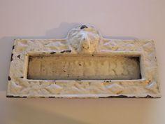 Architectural Antique Cast Iron Letter Box Plate / Mail Slot / Mailbox Lion Head