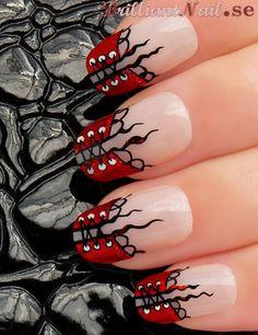 Corset Inspired Nail Art Design