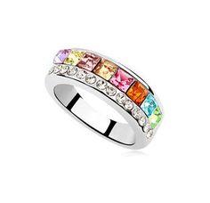 MIMI CRYSTALLIZED™ Rainbow Ring :http://mimimoreau.com/product/mimi-crystallized-rainbow-ring/