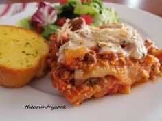 The Country Cook: Crock Pot Lasagna-yes to recipes that don't use the oven!