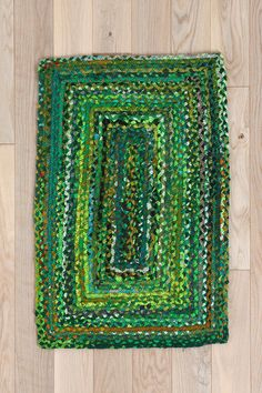 Rectangle Braid Rug  #UrbanOutfitters