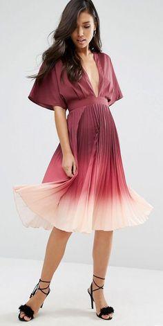 ASOS Ombre Pleated Kaftan Midi Dress {affiliate}