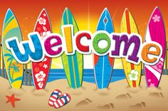 Surf's Up Welcome Postcards (TCR5363) #classroom #decor #AILtyler
