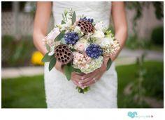 unique rustic wedding bouquet