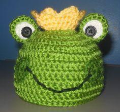 Crochet Frog Prince Hat Crochet Frog Hat by BellaBeansCrochet, $18.00