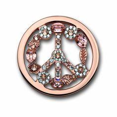 Mi Moneda Swarovski Peace Light Pink Coin SW-PEA-28-L @ Campbell Jewellers Official Mi Moneda Stockist Dublin