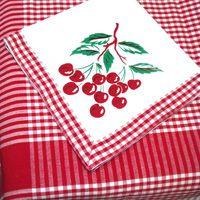 #Retro Cherry Tablecloth & Napkin Set - Woven Gingham #tableware #vintage  http://www.retroplanet.com/PROD/28913