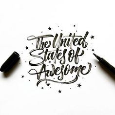 The United States of Awesome✨ . From a beautiful work by @tierneystudio __ ✔️Featured by @thedailytype #thedailytype ✒️Learning stuffs via: www.learntype.today __ #Regram via @thedailytype