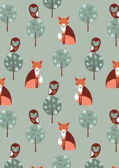 Fox Woods Art Print by the Chalk Lion
