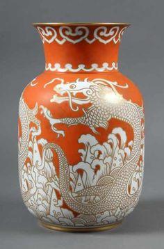 Art Déco Vase Rosenthal Rot Vor 1934 Dekowurf Von Hans Schiffner Aus Dem Jahr 192