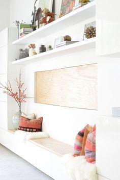 San Francisco Inteior Design Regan Baker Design – RBD Office, White Besta Cabinets, Styling – Source by pinartsite Built In Bench, Bench With Storage, Wall Storage, Seat Storage, Office Storage, Bench Seat, Wall Bench, Office Shelving, Wall Tv