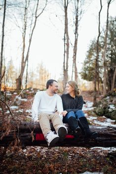 If you're nervous about taking photos, remember that looking at each other makes for a sweet candid shot! Winter Couple Session in Lanark Highlands Ottawa Valley, Winter Photos, Photo Sessions, Candid, Engagement Session, That Look, Jokes, Highlands, Portrait