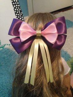 Rapunzel Inspired Disney Bow by JordansBowtique on Etsy, $8.00 definitely doing the longer strands