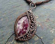 Purple Mexican Opal and Sterling Silver by MandatoJewelryDesign