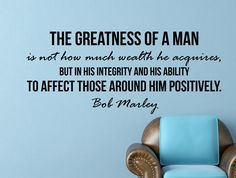 """Bob Marley Quote Inspirational Motivational Wall Decal Home Décor """"The Greatness of a Man"""" Inches Motivational Quotes For Men, Men Quotes, Great Quotes, Positive Quotes, Life Quotes, Eminem Quotes, Rapper Quotes, Mommy Quotes, Family Quotes"""