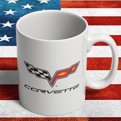 A personal favourite from my Etsy shop https://www.etsy.com/dk-en/listing/285500101/chevrolet-corvette-c6-mug-for-american